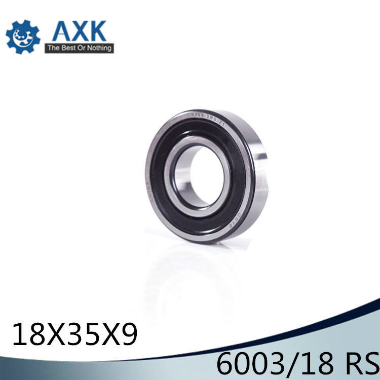 6003//18 2RS 2Pcs Non-standard Ball Bearings 18*35*9 mm ABEC-1 Bearing 18359