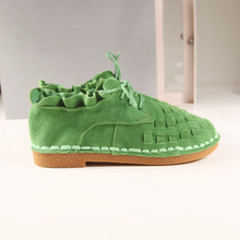 HUIFENGAZURRCS-pure handmade shoes,the retro art mori girl Flats shoes,fashion casual shoes,Vintage sweet leather shoes ,3 color