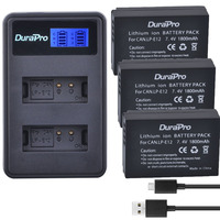 3 x DuraPro LP-E12 LPE12 LP E12 Camera Battery Bateria Batterie AKKU + LCD USB Charger For Canon M 100D Kiss X7 Rebel SL1 EOS M1