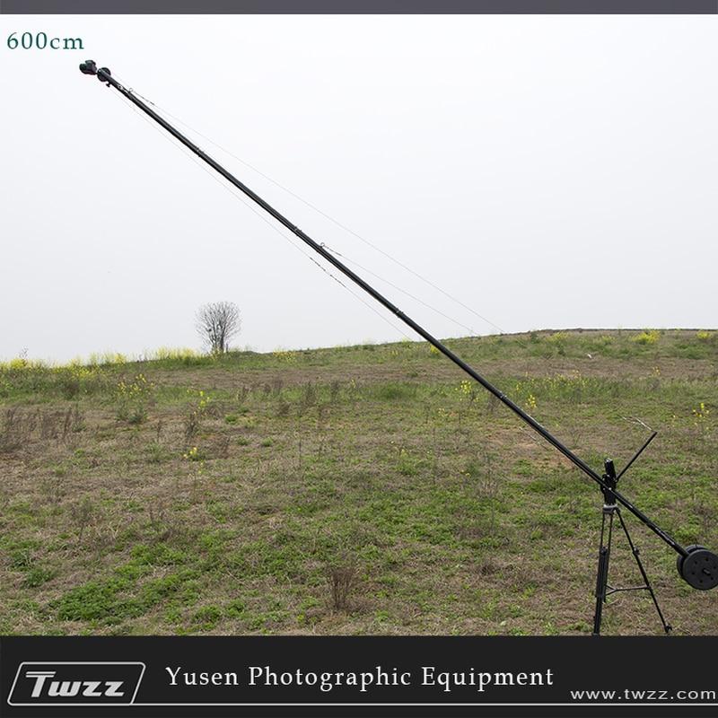 6 Meter 600CM Crane jib Aluminium Pan Tilt Head Portable Adjustable Length Professional DSLR Video Camera Crane Jib benro s2 video head pan and tilt head for dslr video camera