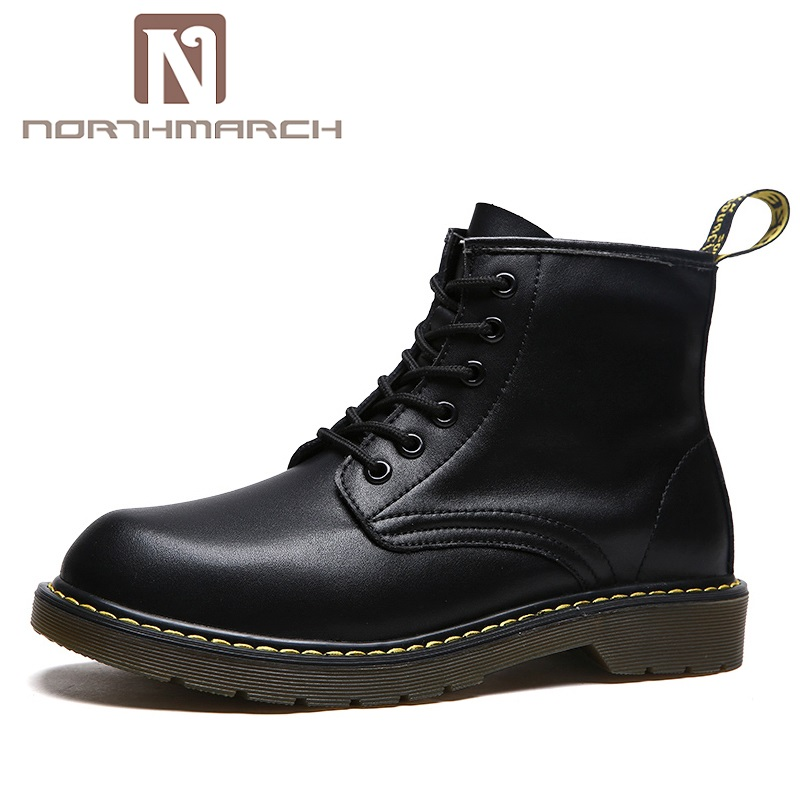 New Arrival PU Leather Men Boots British Breathable Lace-Up Ankle Boots Brand Designer Desert Boots Male Sapato Masculino