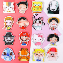 1 pcs Animation serie gestures Fashion Girl Acrylic Art Badge Student Backpack Clothes Decor Dress Brooch Decoration Strap Badge(China)