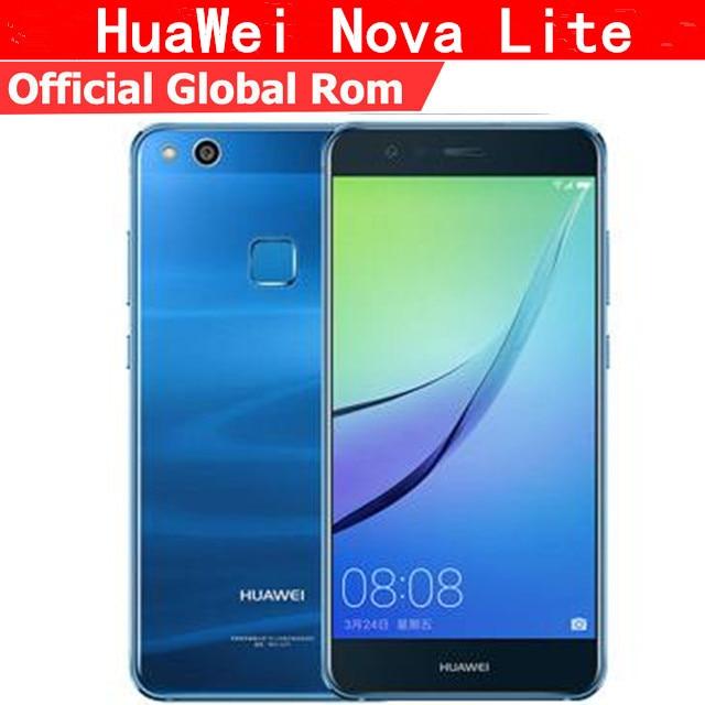 """Оригинальный Huawei NOVA Lite P10 Lite 4G LTE Мобильного Телефона Kirin 658 Android 7,0 5,2 """"FHD 1920X1080 4G B Оперативная память 6 4G B Встроенная память отпечатков пальцев"""