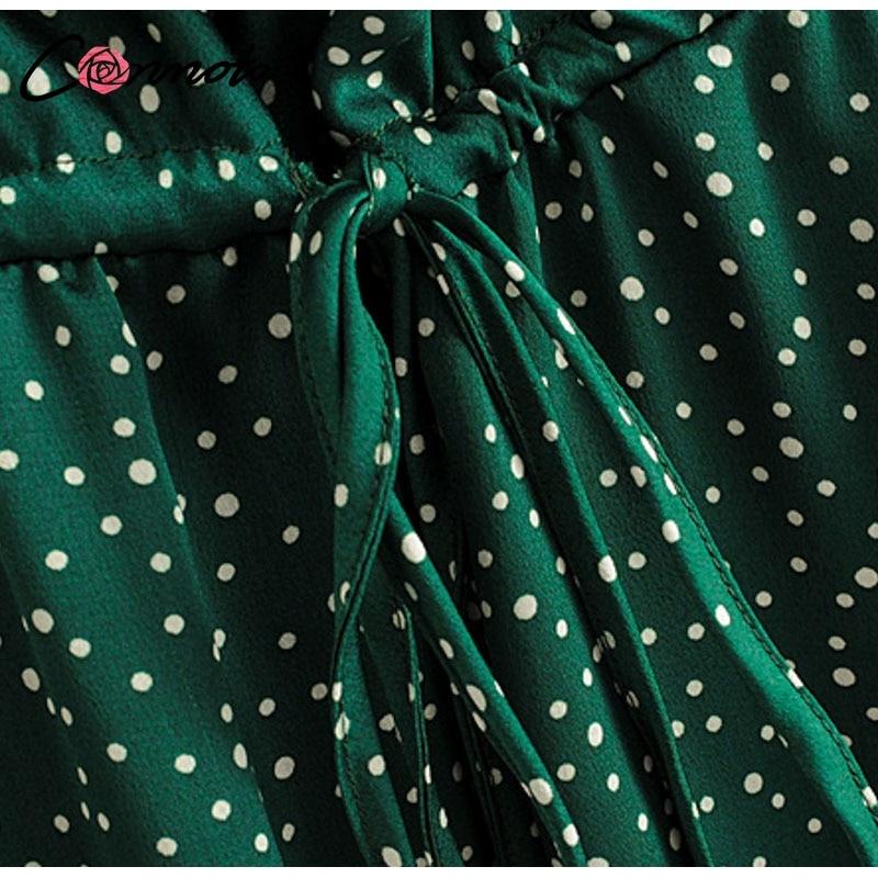 Conmoto 19 Summer Fashion Strap Backless Stain Short Dress Women Casual High Street Polka Dot Dress Beach Holiday Vestidos 16