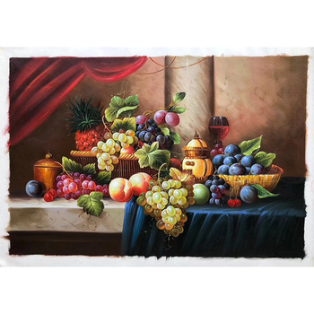 100% Hand painted Classical fruit Art Painting On Canvas Wall Art Wall Adornment pictures Painting For Live Room Home Decor