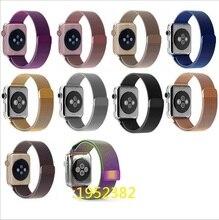 Banda de acero inoxidable de lujo para apple iwatch 38/42mm correa de reloj de pulsera correa de la correa para apple watch sport edition