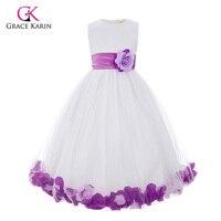 Bloem Meisje Jurken voor Bruiloften Tulle Baljurk Meisjes Pageant Jurken Glitz Eerste Heilige Communie Kids Prom Dresses