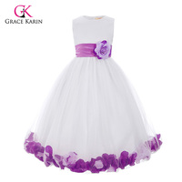 Flower Girl Dresses for Weddings Tulle Ball Gown Little Girls Pageant Dresses Glitz First Holy Communion Kids Prom Dresses