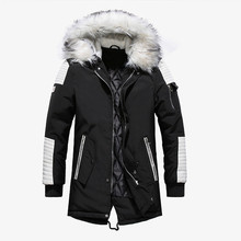 Winter Jacket Men New Fashion Brand Casual Warm Parka Large Fur Collor Thicken Man Patchwork Jackets Outwears EUROPE/US Size