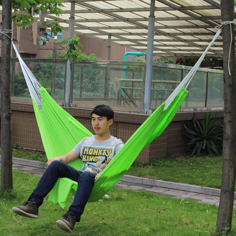 Image 3 - VILEAD Stable 200*140 Hammock Ultralight Canvas Camping Hammock Bed Wood Stick Outdoor Garden Swing Hanging Chair Hiking Gear-in Camping Cots from Sports & Entertainment