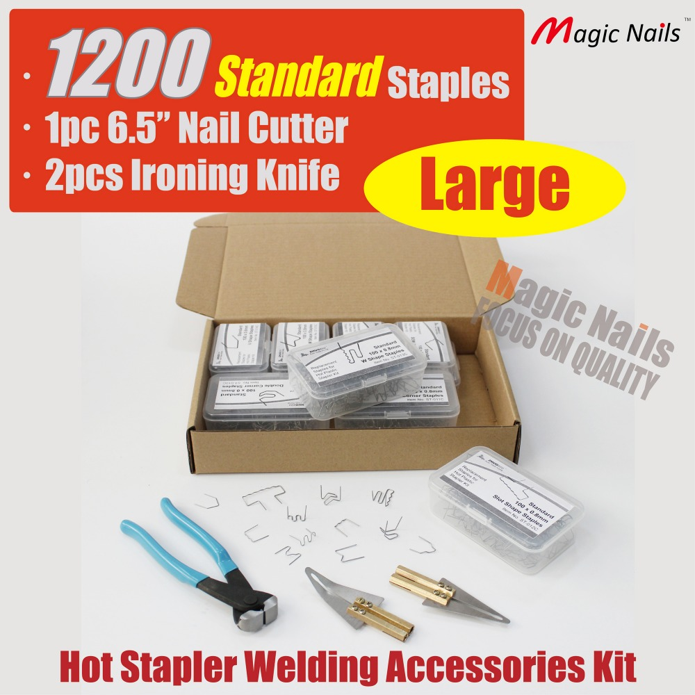 bumper repair kit hot stapler plastic staples stainless steel welding wire car bodywork tools replacement pin nail clips auto mini frog stainless steel stapler staples set blue