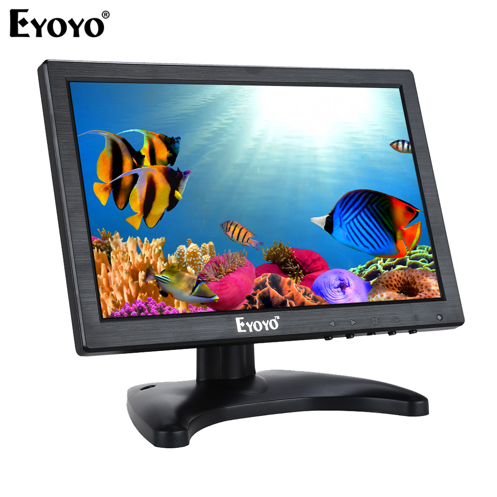 EYOYO EM10A 10.1 IPS LED HD HDMI Monitor 1280*800 VGA Video Audio with built-in loudspeakers for CCTV DVD PC GamingEYOYO EM10A 10.1 IPS LED HD HDMI Monitor 1280*800 VGA Video Audio with built-in loudspeakers for CCTV DVD PC Gaming