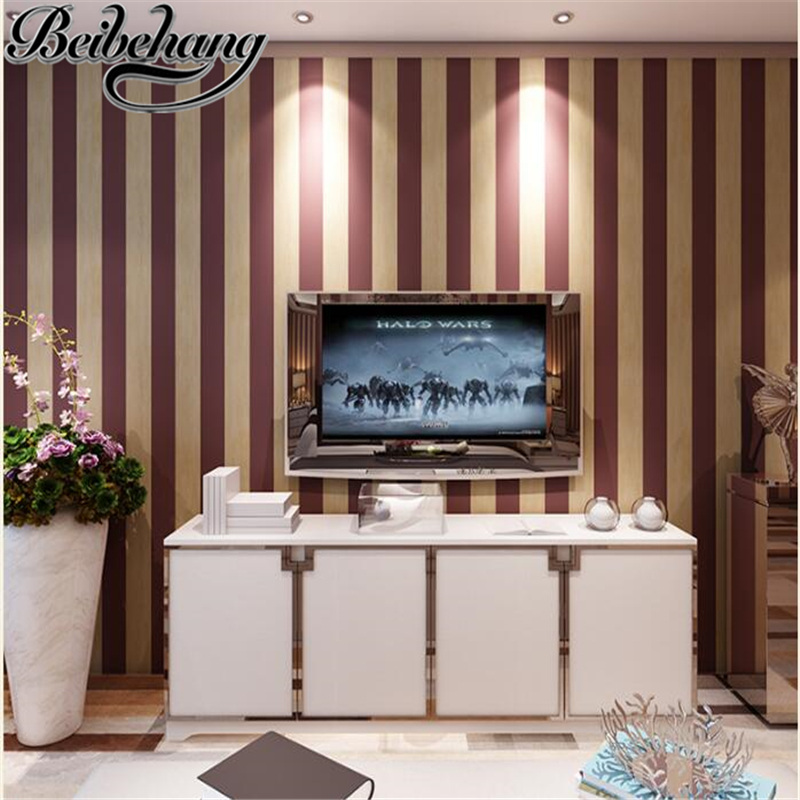 beibehang Retro red striped wallpaper American nonwovens living room bedroom study old room wallpaper Papel de parede wall paper beibehang papel de parede wallpaper american retro personalized wine bottle wine cellar study ways backdrop wallpaper bedroom