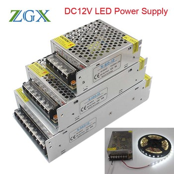 DC12V Power Supply LED Driver transformer 1.25A 2A 3A 5A 6.5A 10A 15A 20A 25A 30A 33A adapter Switch for Led strip lamp light lpsecurity door lock power supply dc12v 3a 12vdc 5a 3a led driver adapter for led strips wholesale
