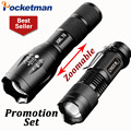 LED Flashlight 3800 Lumen CREE T6 + 2000LM CREE Q5 Zaklamp Taschenlampe Torcia Mini Torch Lanterna Tactical Registered Post