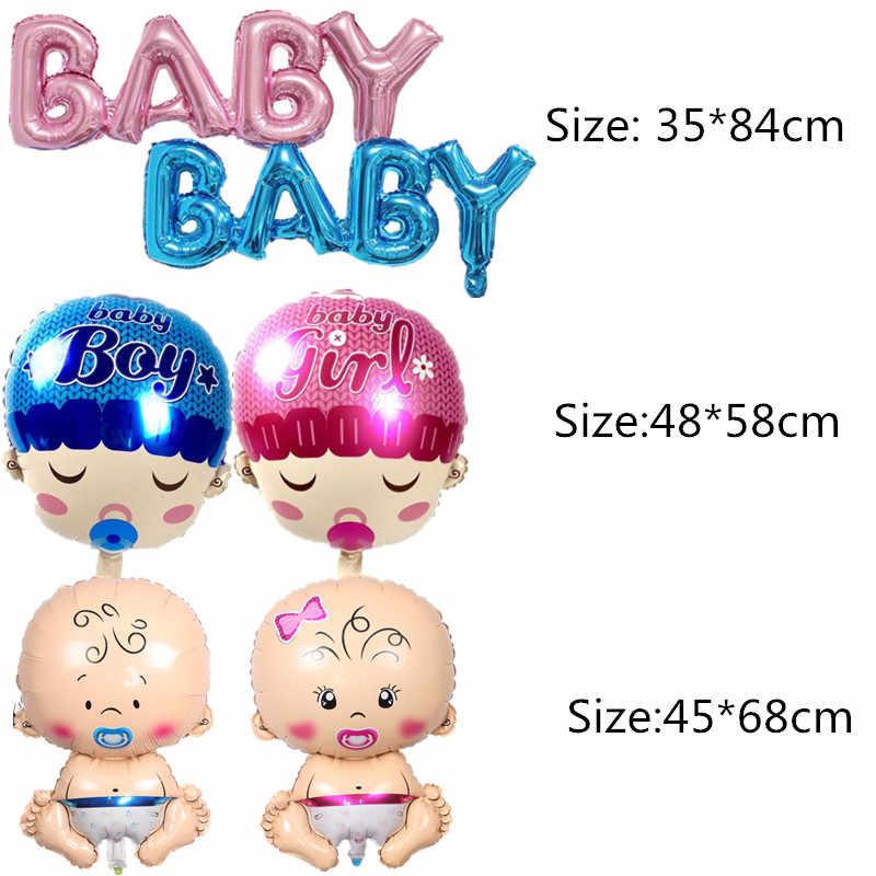 1 pieza bebé niño niña Primer Cumpleaños globos bebé ducha fiesta decoración carta número cochecito botella de leche estrella corazón globo