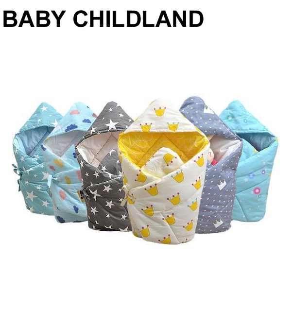 Winter Newborn Baby Swaddle Wrap 100 Cotton Thick Soft Infant