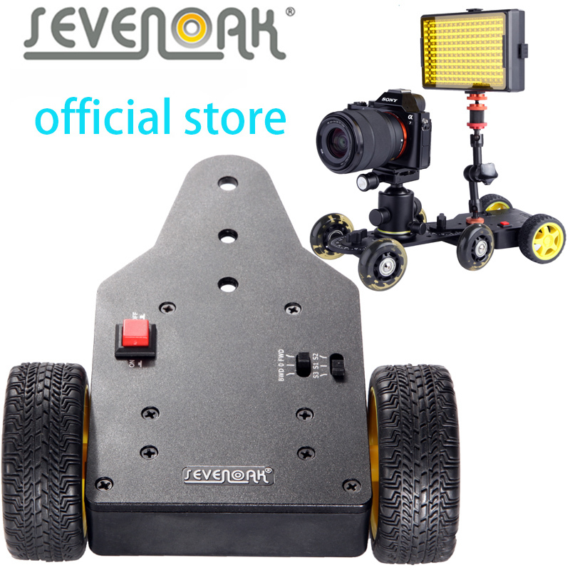 Sevenoak SK-MS01 Motorized Push Cart  Dolly Tractor for Camera Canon 5D2 6D Nikon D3200 D7100 Sony Gopro DV Mini Camcorders new 4 wheels mobile rolling sliding dolly stabilizer skater slider motorized push cart tractor for gopro 5 4 3 3 2 1 camera