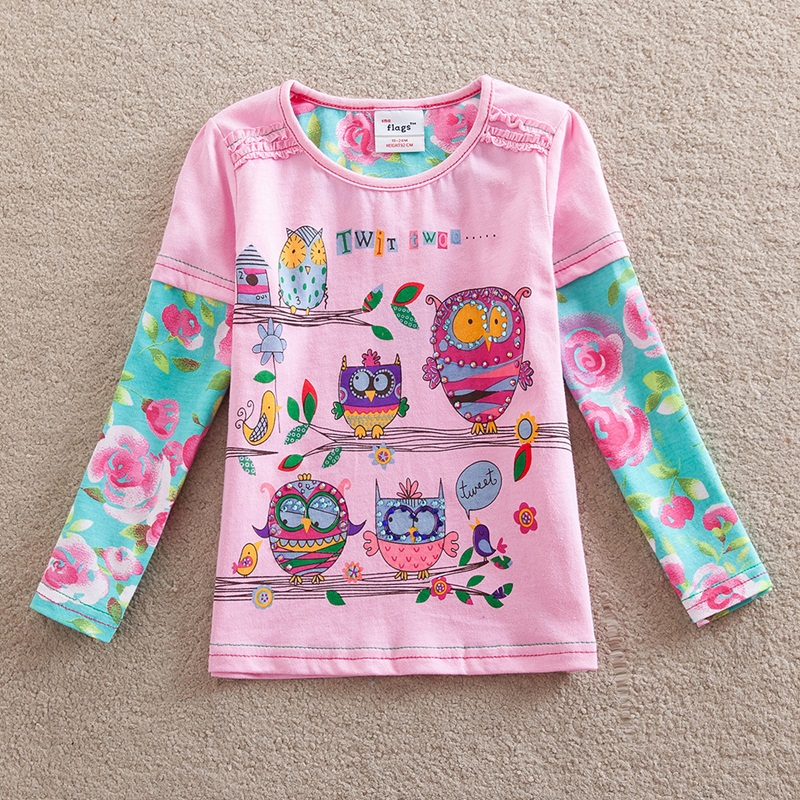 HTB1rTc4dm7PL1JjSZFHq6AciXXaZ - Girls Long Sleeve All Year T-Shirt, Long Sleeve, Cotton, Various Designs and Prints