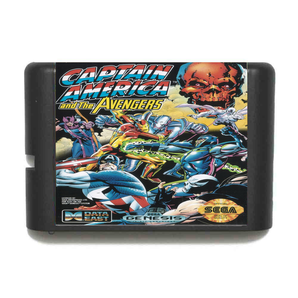 Captain America And The Avengers 16 bit MD Game Card For Sega Mega Drive For GenesisCaptain America And The Avengers 16 bit MD Game Card For Sega Mega Drive For Genesis