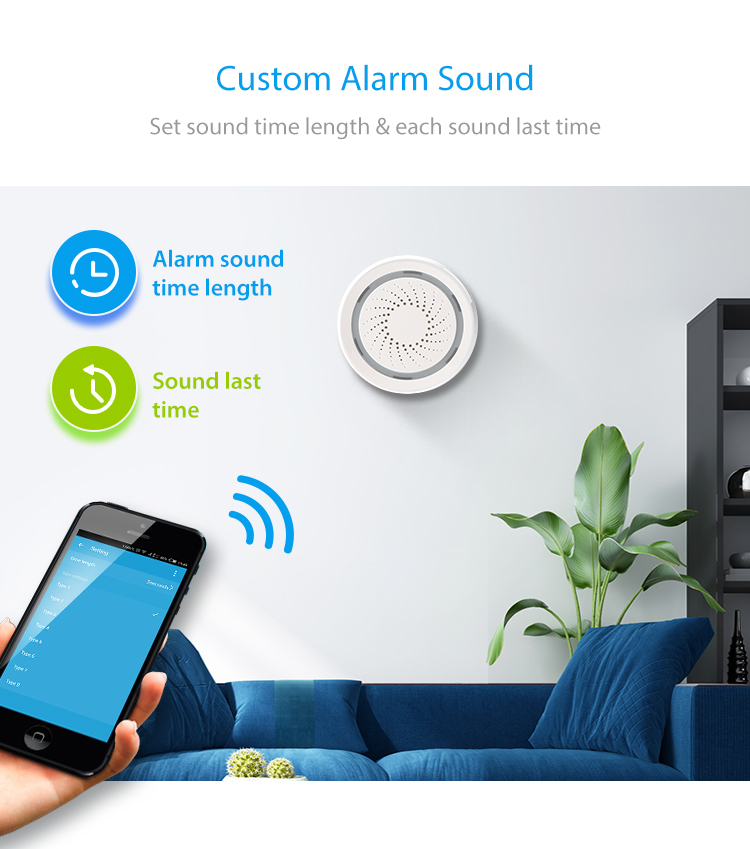 TUYA Smart Home Video Alarm Kit Concluding 720P Cameras 3 sensors 1 Siren Alarm All Support Wifi with SmartLife TUYA Smart APP_F14