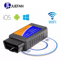 3pcs ELM 327 V1.5 Bluetooth WIFI USB Vehicle Diagnostic Tool OBD2 OBD II ELM327 Car Interface Scanner Works On Android IOS
