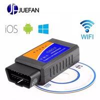 3pcs ELM 327 V1.5 Bluetooth WIFI USB Vehicle Diagnostic Tool OBD2 OBD II ELM327 Car Interface Scanner Works On Android IOS