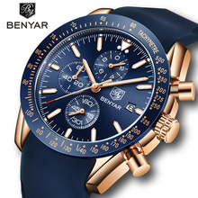 BENYAR Men Watches Top Brand Luxury Waterproof Sport Quartz Chronograph Military Watch Male Clock Analog Wristwatch Relogio Man
