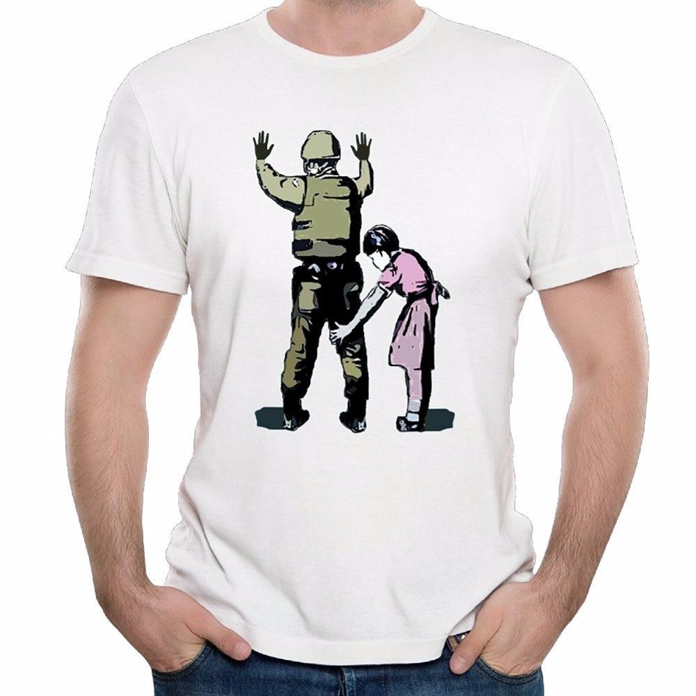2017 spring summer short sleeve t shirts banksy soldier for Best short sleeve shirts