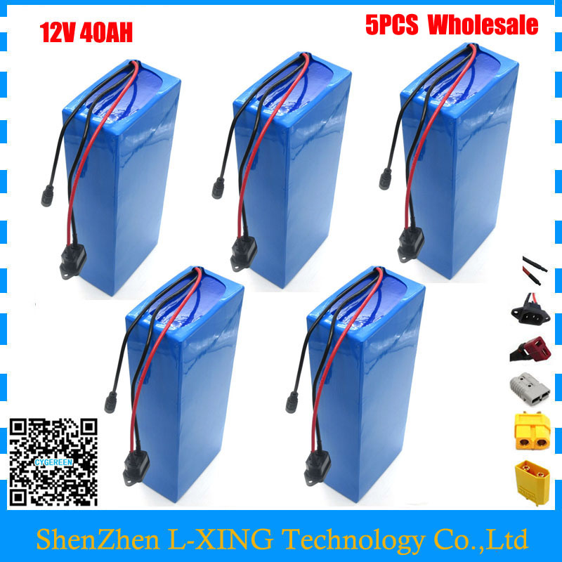 Free customs fee 12V 40AH battery 12 V 40AH 40000MAH Lithium ion battery for 12V 3S Battery 12.6V 5A charger Wholesale 5pcs/lot 30a 3s polymer lithium battery cell charger protection board pcb 18650 li ion lithium battery charging module 12 8 16v