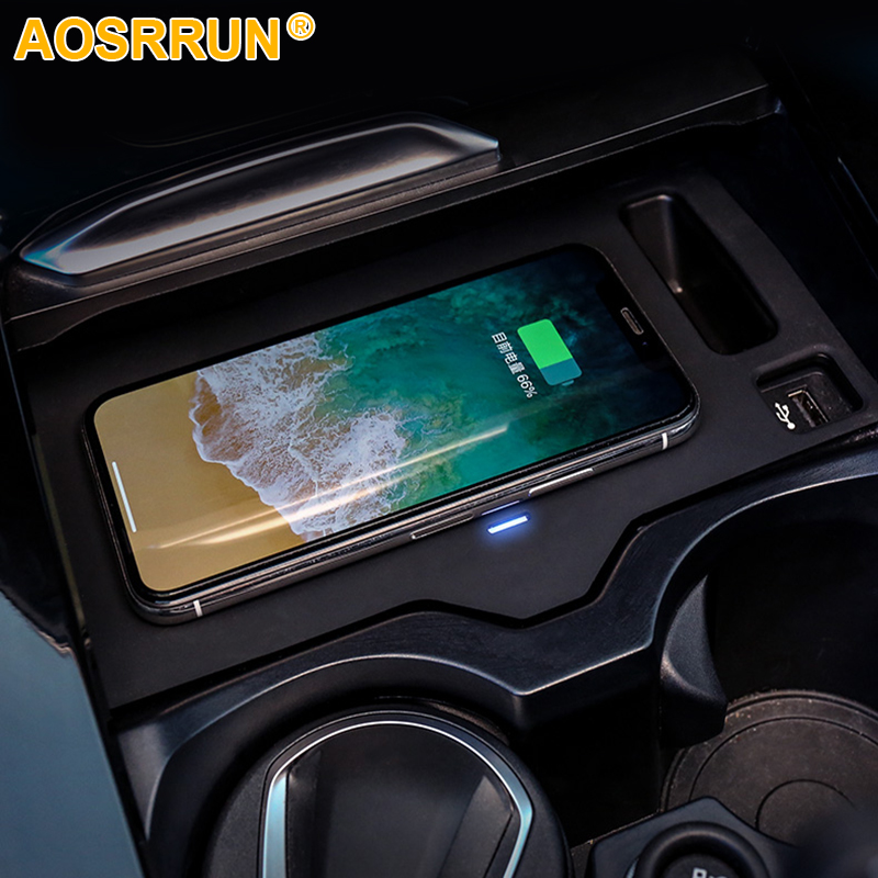 Mobile phone QI wireless charging Pad Module Car Accessories For BMW X4 G02 2018 2019 30i
