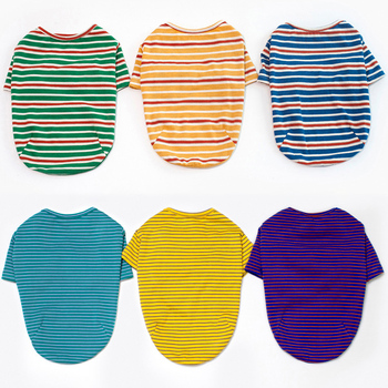 6 Colors Striped Dog Clothes For Dog Shirt Vest Spring Autumn Dogs Pets Clothing For Small Dogs Clothing Pet Outfits Chihuahua