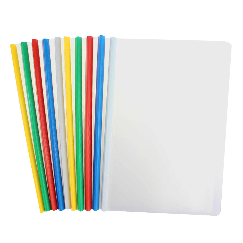 10 шт. A4 размер прозрачный пластиковый бумажный файл Книга папка для документов раздвижные бар отчет обложки для дисплея Органайзер переплет школьный офис