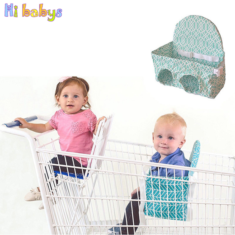 Foldable Baby Kids Shopping Cart Cushion Children shopping Cart Protection Cover Portable Kids Safety Trolley Chair Seat Mat