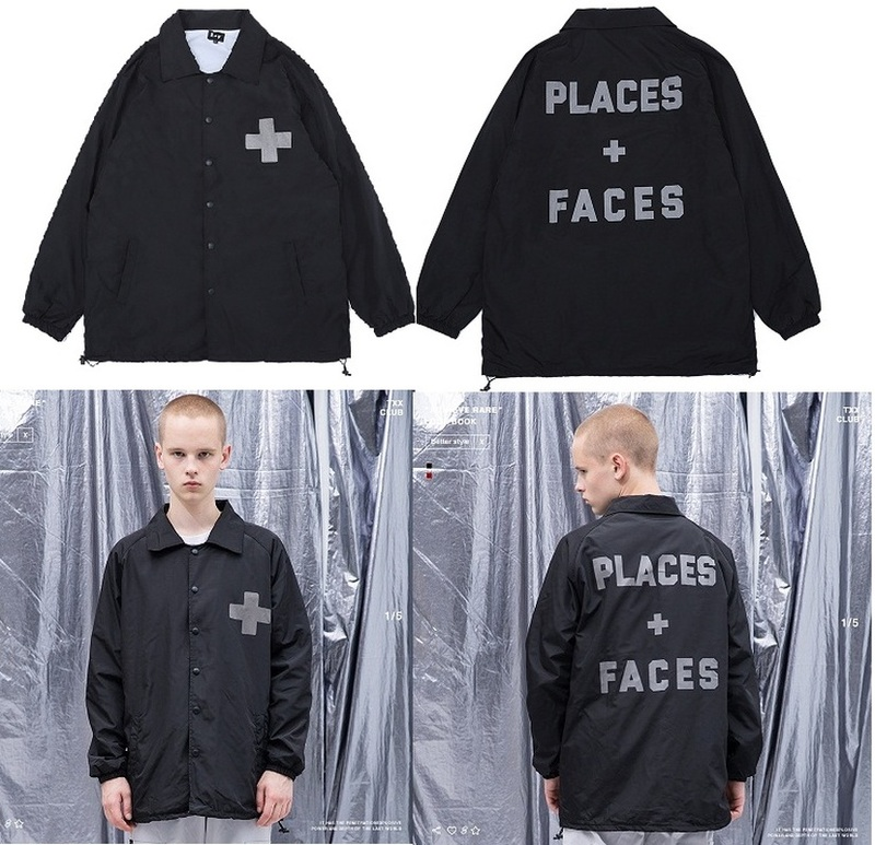 New PLACES+FACES Jackets Men Women Streetwear Bomber Jacket 3M Reflective Thickened High Quality Clothes PLACES+FACES Jacket