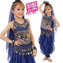 6 pcs Kid Belly Dance Costumes Wear Children Dance Clothes Bellydance For Girls Gift Indian Dress 6 Colors Bellydance Clothes