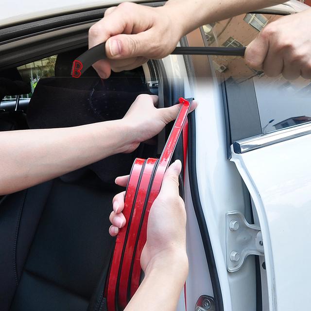 3M Universal B Type Car Door Seal Strips Sticker Trunk Soundproofing Waterproof Sealing Sticker Automobiles Interior Accessories