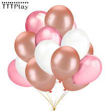 10 sztuk 12 cali szampana różowe złoto balony lateksowe Baby Shower DIY miłość dekoracje ślubne materiały urodzinowe Globos dzieci zabawki
