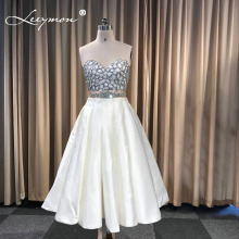 Leeymon Custom Made Satin Sleeveless Short Prom Dress