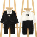 Kids Baby Boys Gentleman Romper Jumpsuit Bodysuit Coats Clothes 2PCS Outfit 0-4T
