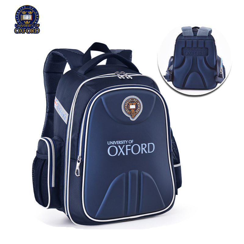 UNIVERSITY OF OXFORD children student/books/orthopedic school bag  backpack portfolio rucksack  for  boys girls   for class 1 3-in School Bags from Luggage & Bags    2