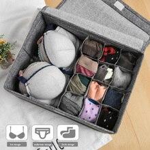 Тканевый складной шкаф для хранения ткани бюстгальтер/нижнее белье/ящик для хранения носков органайзер для галстука Носок шорты разделитель Ropa внутренняя коробка
