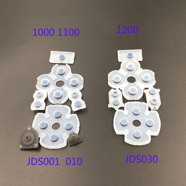 De goma suave de reemplazo para PlayStation DualShock 4 1000 de 1200 de silicona conductiva adhesiva botón para Sony PS4 controlador