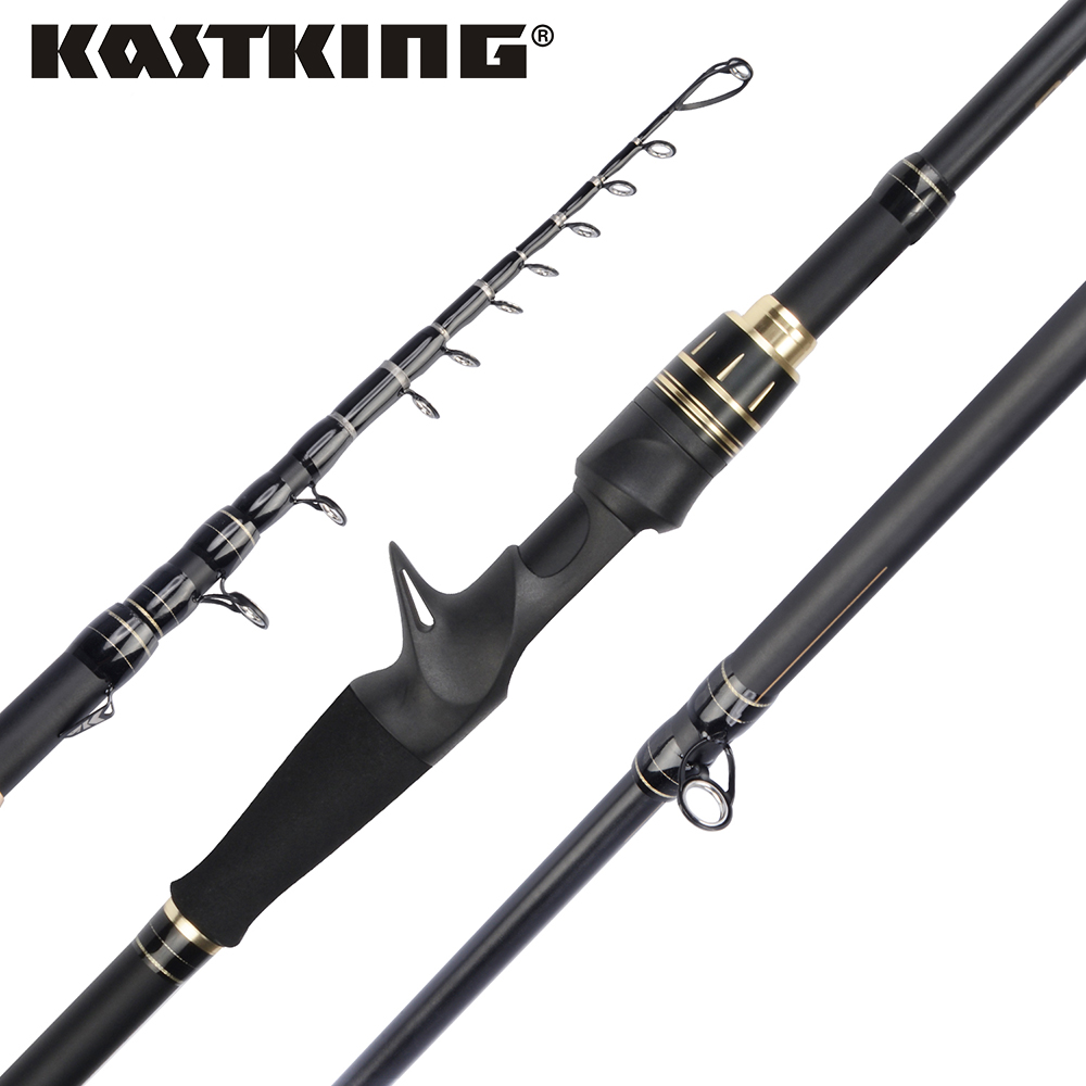 KastKing Blackhawk II Carbon Spinning Casting M MH Power Telescopic Fishing Rod