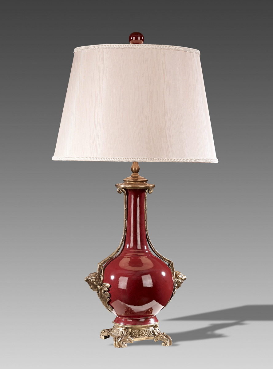 European Style Antique Porcelain Red Table Lamp Br Base Luxury Ceramic Art Decoration In Lamps From Lights Lighting On Aliexpress Alibaba