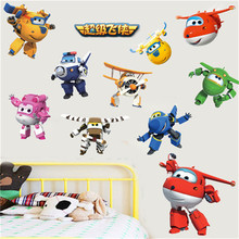 Superwings music wall stickers kindergarten childrens room cartoon bedroom self-adhesive
