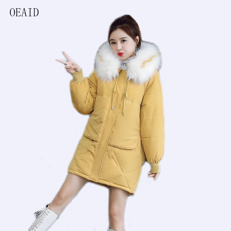 New Plus Size 3XL Parka Women Coat Long 2019 Winter Coat Women Jackets And Coats Outerwear Fur Coats Female(China)