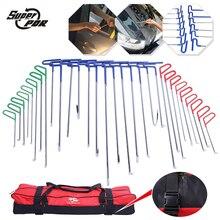 PDR Haken Werkzeuge 30 stücke Push Stangen Dent Removal Werkzeuge Ausbeulen ohne Reparatur-werkzeuge Auto Body Repair Kit 13 blau 8 9 grün rot