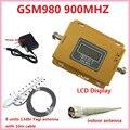 Сотовой GSM980 GSM 900 МГц Мобильный Сотовый телефон Booster Repeater Усилитель Полный Комплект С Яги Антенны и Крытый антенны