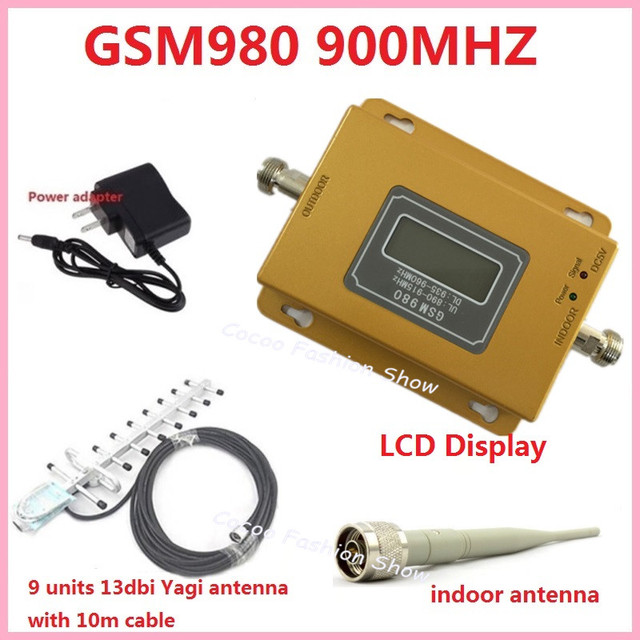US $52 88 |Cellular GSM980 GSM 900MHz Mobile Cell phone Booster Repeater  Amplifier Full Kit With Yagi Antenna and Indoor wireless Antenna-in Mobile